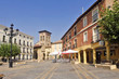 Square and Romanesque church of Satiago, Carrion de los Condes, Palencia province, Spain