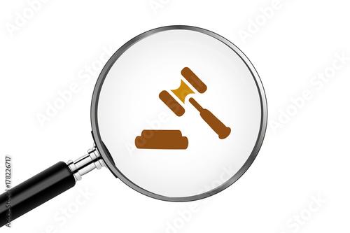 Fototapeta Lupe sucht/findet - Anwalt