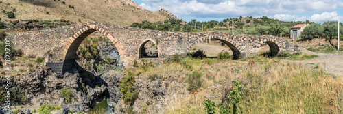 Photo Panorama of Ponte di Saraceni, near Adrano, Sicily, Italy