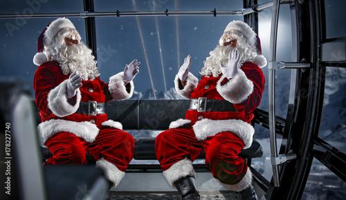 Zdjęcie XXL Święty Mikołaj i zimowa noc