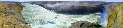 Zdjęcie XXL piękny wodospad w lecie Islandii