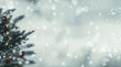 tanne im schnee - winterlicher hintergrund