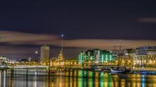 Dublin, Ireland, Night View Of...