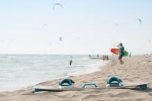 Kite-surfing Board And Kite-su...