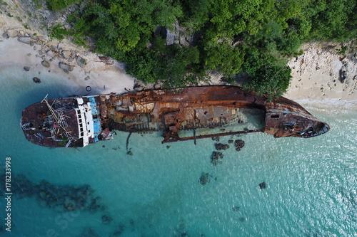 Shipwreck in Anguilla Canvas Print