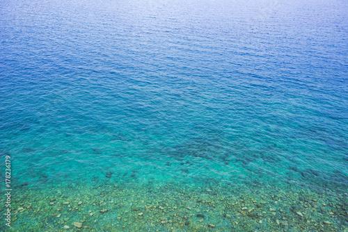 Fotodibond 3D Widok z lotu ptaka wody morskiej powierzchni