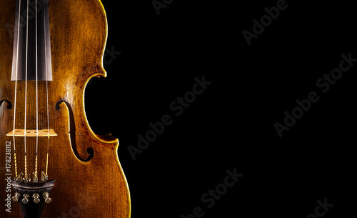 Photo close up of a violin