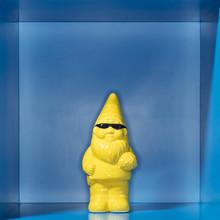 A Yellow Garden Gnome With Sun...