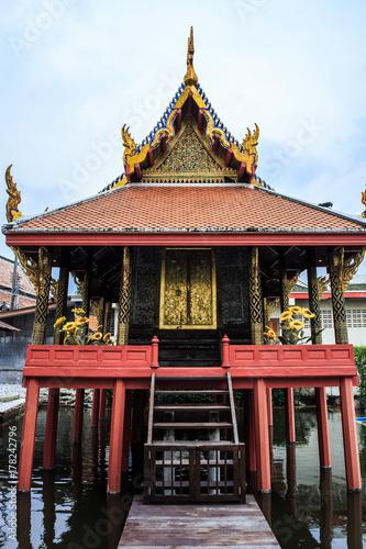 Canvas Prints Illustration Paris Bangkok Thailand: Wat Khun Chan Temple ( 1144 เทอดไท28 Khwaeng Talat Phlu, Khet Thon Buri, Krung Thep Maha Nakhon 10600)