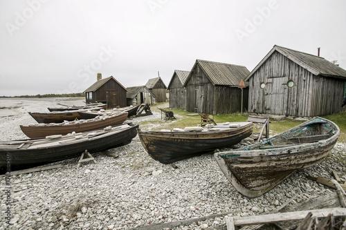 Fotomural  historische Fischerdorf auf Gotland, Schweden