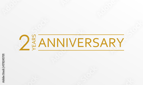 2 year anniversary emblem anniversary icon or label 2 year