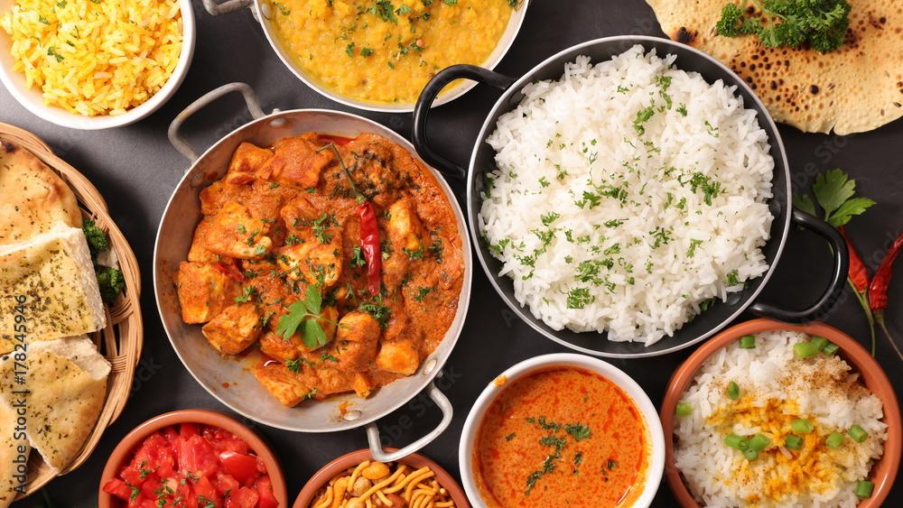 Fototapeta assorted indian dish