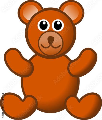 Plakat ilustracja kreskówka niedźwiedź