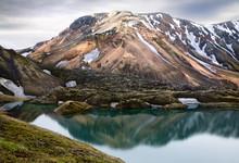 Frostastadarvatn Lake In Landm...