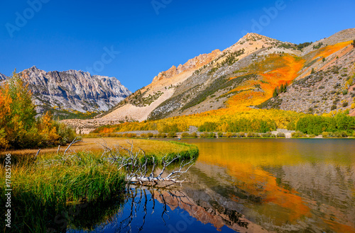 Poster Reflexion North Lake in Autumn