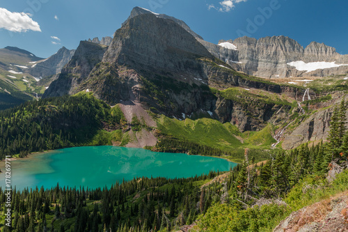 Fotografia, Obraz  Grinnell Lake and the Angel Wing