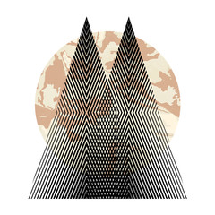 Fototapeta Góry Vector geometric triangle background, abstract mountains.Conceptual background, with mountains. Ð¡onceptual print. Vector illustration EPS10