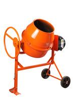 Concrete Mixer. Orange Color O...