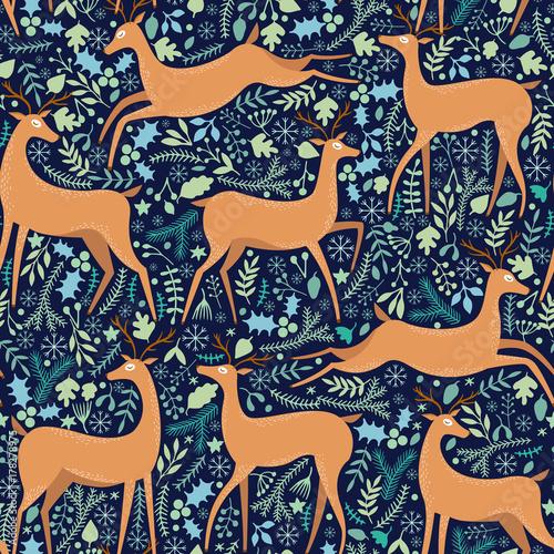 Stoffe zum Nähen Vector Hirsch nahtlose Muster