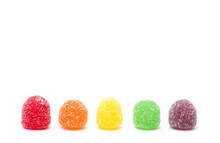 Gumdrops On A White Background