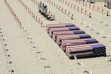 Coffins Covered With American ...