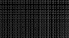 Black Acoustic Foam Like Pattern Texture, Render.