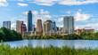 canvas print picture - Austin Cityscape