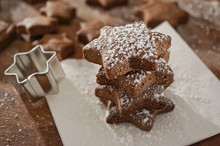 Food: Stacked Star Shaped Choc...