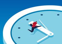 Businessman Race Against Time