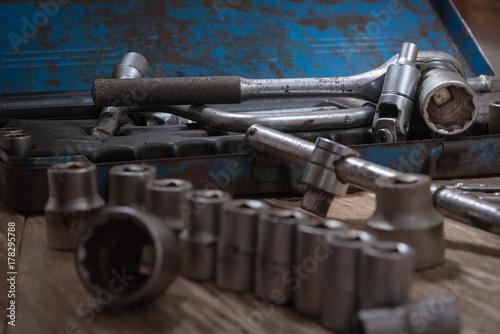 Zdjęcie XXL Zestaw starych narzędzi.