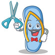 Barber flip flops character cartoon