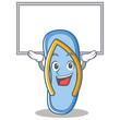 Up board flip flops character cartoon