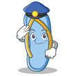Police flip flops character cartoon