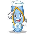 Sailor flip flops character cartoon