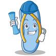 Architect flip flops character cartoon