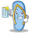 With juice flip flops character cartoon