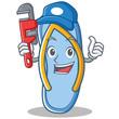Plumber flip flops character cartoon