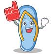 Foam finger flip flops character cartoon