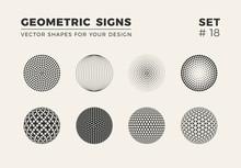 Set Of Eight Minimalistic Shap...