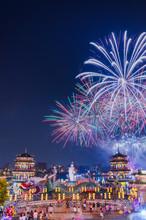 Fireworks At Lotus Pond Behind...