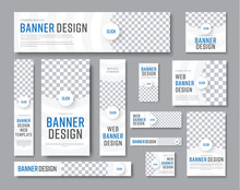 Design Of White Banners Of Sta...
