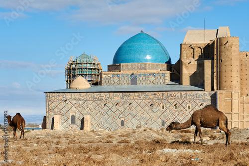 Zdjęcie XXL Rodzaje miasta Turkiestanu. Turkestan to miasto w południowo-kazachstańskim regionie Kazachstanu, w pobliżu rzeki Syr Daria.
