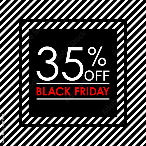 35 off black friday sale and discount banner sales tag design