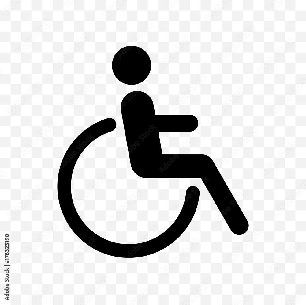 Fototapety, obrazy: disabled symbol