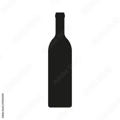 Wine bottle icon isolated on white background Fototapeta