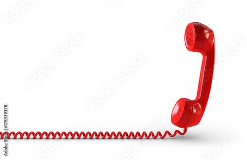 Obraz Telefonhörer rot Freisteller - fototapety do salonu