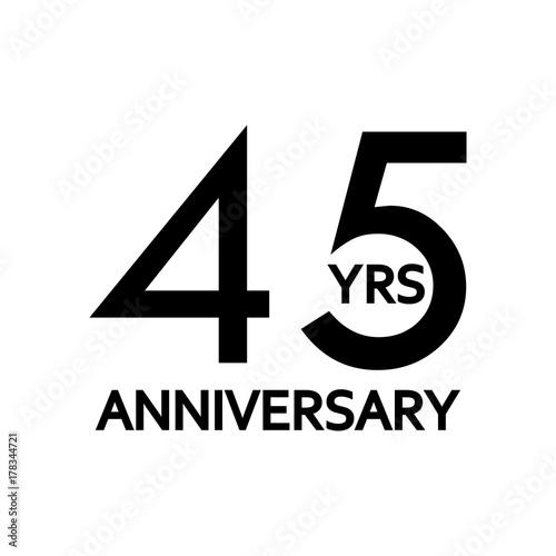 Photographie  45 years anniversary icon