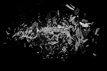 Fototapeta Flying Broken Glass