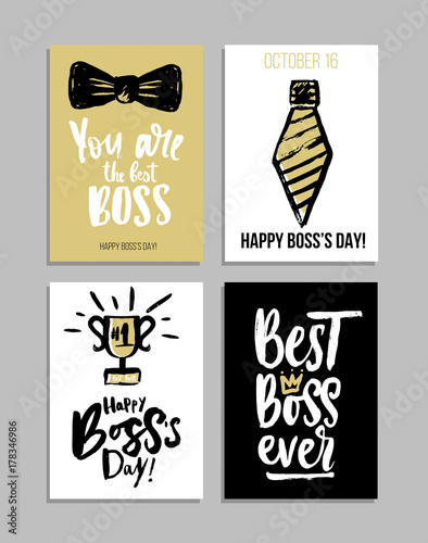 image about Happy Boss's Day Cards Printable titled Excellent manager at any time lettering card fixed. Ground breaking calligraphy