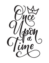 Once Upon A Time. Lettering Fa...